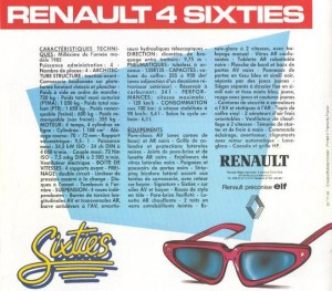 Documentation Renault 4 Sixties