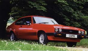Ford Capri rouge