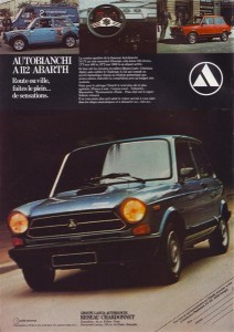 Publicité autobianchi A112