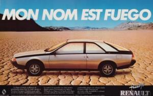 Publicité Renault Fuego