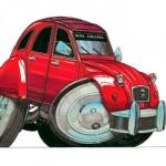 Caricature Auto Moto