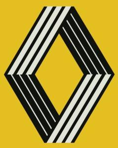 logo renault années 80