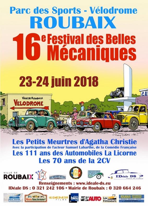 Festival des belles mécaniques Roubaix 2018