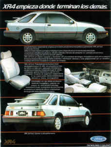 Catalogue Sierra XR4i youngtimer