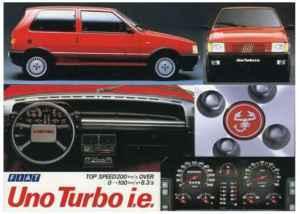 Pub Fiat Uno Turbo i.e série 1
