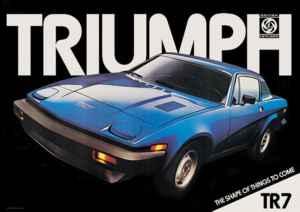 publilité Triumph TR7