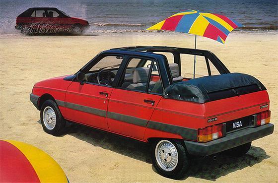 publicité Citroën Visa découvrable