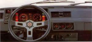 Tableau de bord Fiat Ritmo 105 TC