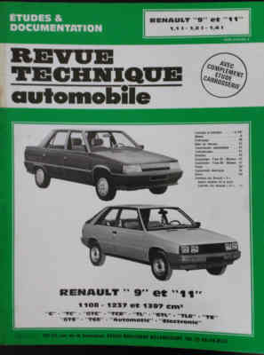 Revue technique automobile renault 9 et 11 voitures for Garage renault tourcoing