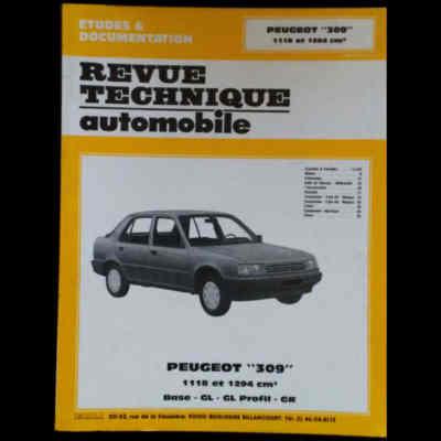 RTA Peugeot 309 1118 cm3 et 1294 cm3