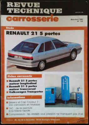 Revue Technique Carrosserie Renault 21 versions 5 portes