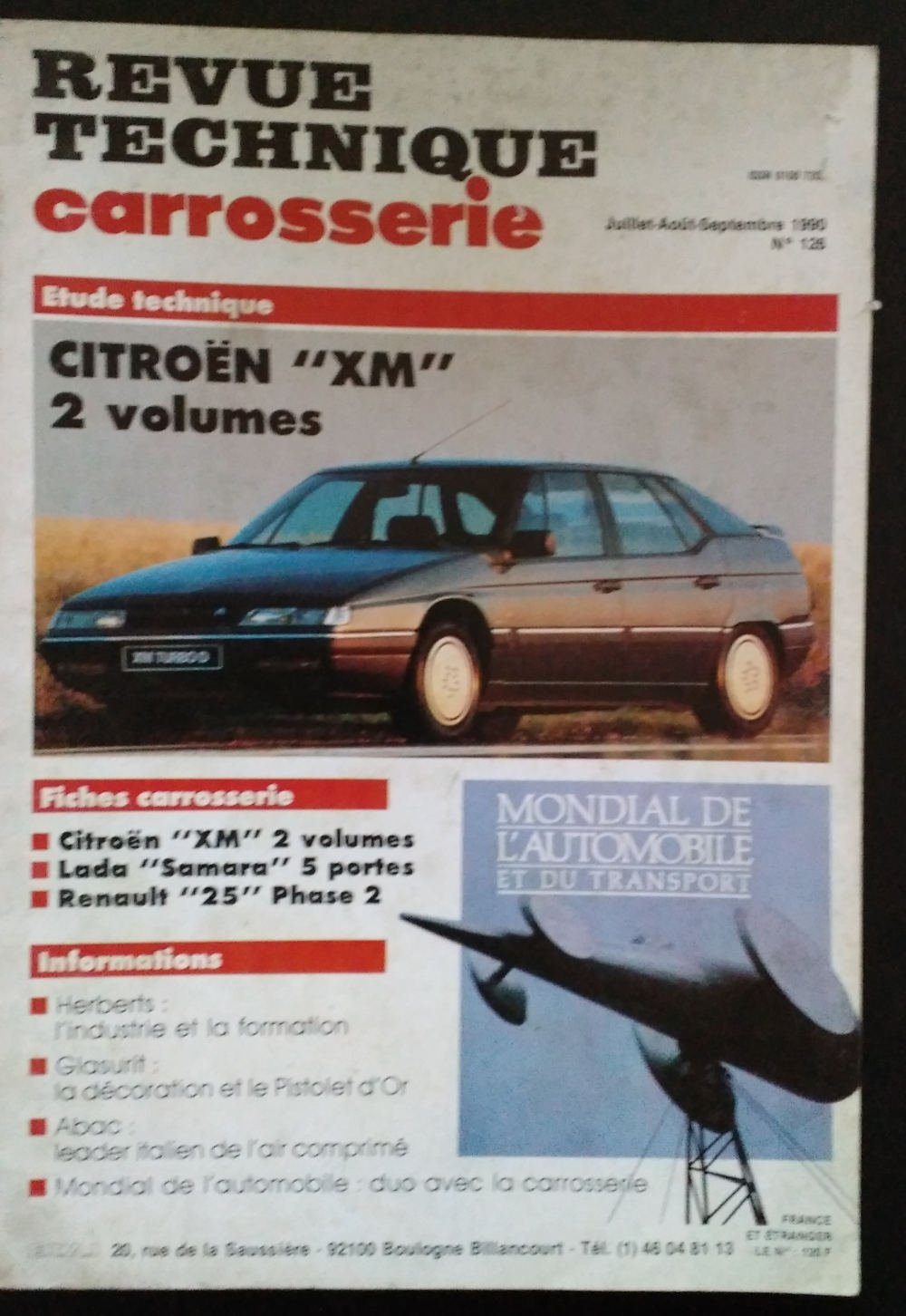 Revue Technique Carrosserie Citroën XM