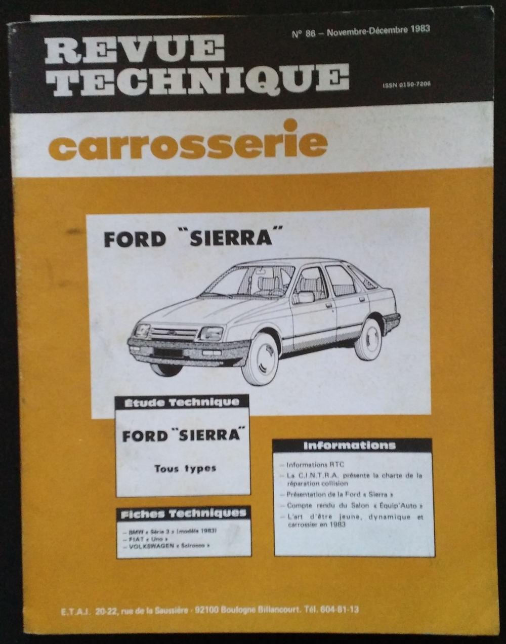 Revue Technique Carrosserie pour Ford Sierra