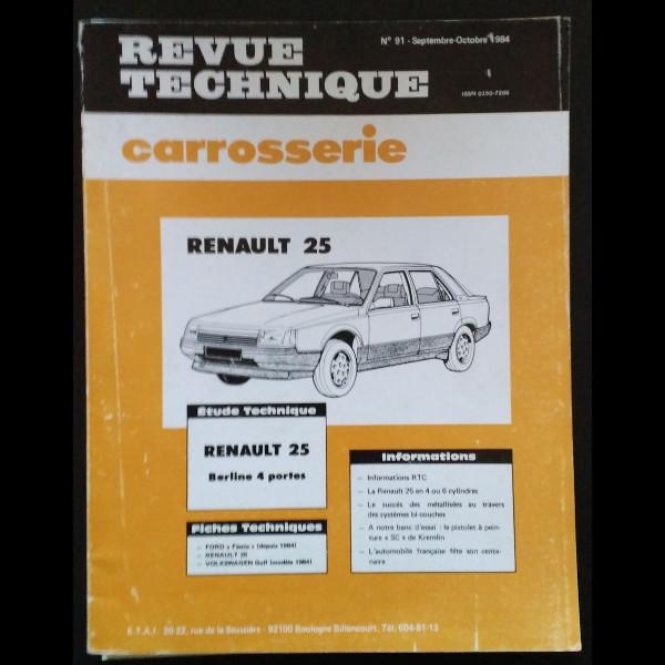 Revue Technique Carrosserie pour Renault 25