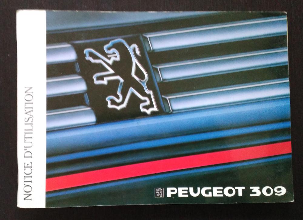 Notice d'utilisation Peugeot 309