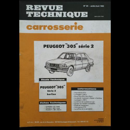 Revue technique carrosserie Peugeot 305 série 2