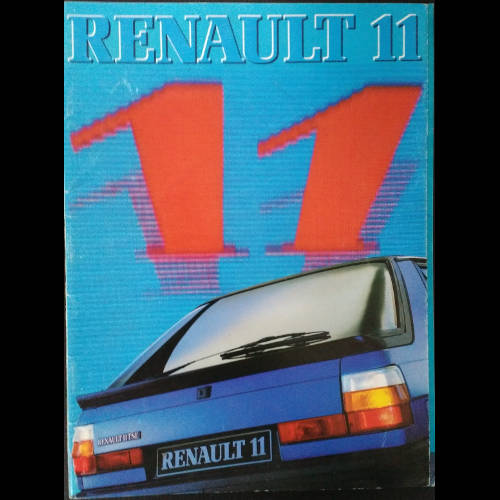 Brochure Renault 11 phase 1