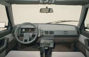 Intérieur de la Citroën BX 16 TRS