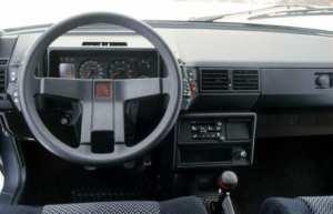 Intérieur de la Citroën BX Sport