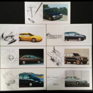 Lot de fiches publicitaires Renault