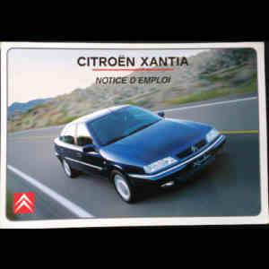 Notice d'emploi Citroën Xantia
