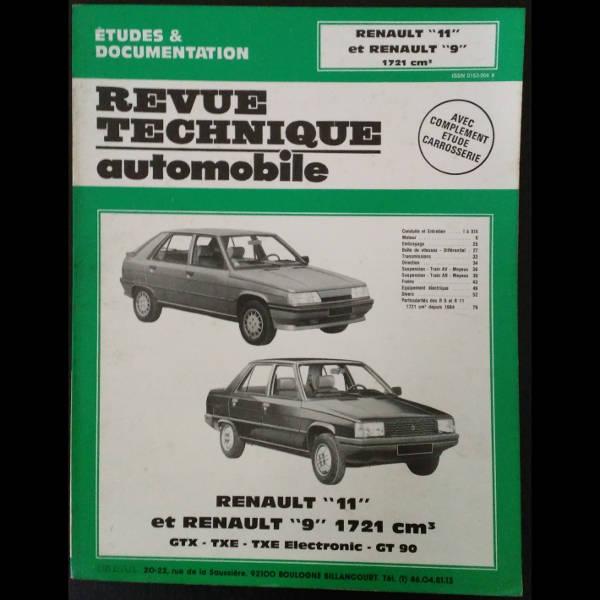 RTA Renault 11 et Renault 9 1721 cm3