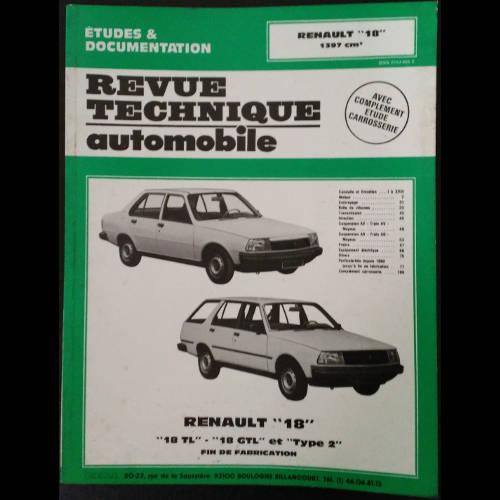 RTA Renault 18 à moteur 1397 cm3