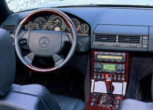 Mercedes SL intérieur