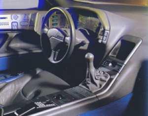 Intérieur de la Peugeot Oxia