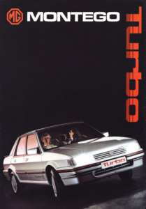 Publicité MG montego turbo