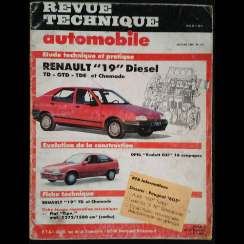 RTA Renault 19 et Chamade Diesel