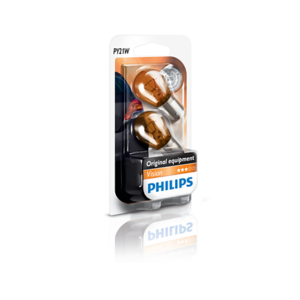 Blister 2 ampoule philips vision PY21W clignotant