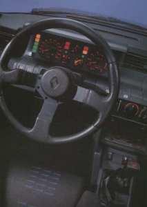 Intérieur de la Renault 5 GT Turbo phase 1