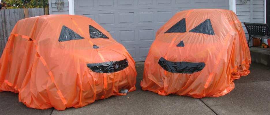 voitures horribles halloween