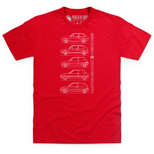 T Shirt homme Hatchback Heroes GTI rouge