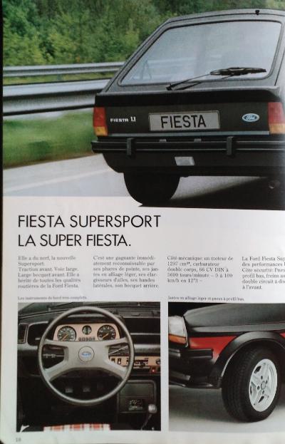 Brochure Ford Fiesta MK1