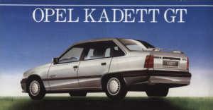 Opel Kadett 1.8i GT catalogue