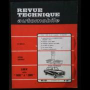Revue Technique Automobile BMW 1600 à 2000