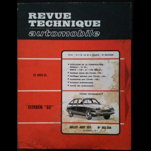 Revue Technique Automobile Citroën GS