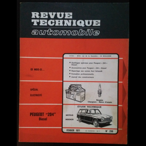Revue Technique Automobile Peugeot 204 diesel