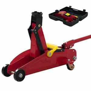 Cric hydraulique à roulette en acier capacité de levage 2000kg/2T de haute qualité rouge neuf07