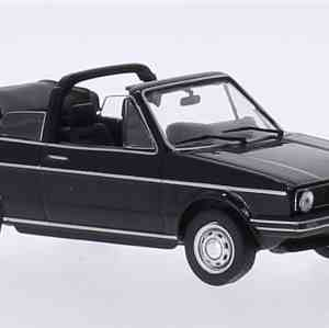 Miniature VW Golf I cabriolet noire, 1981