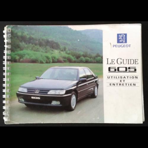 Guide d'utilisation et entretien Peugeot 605