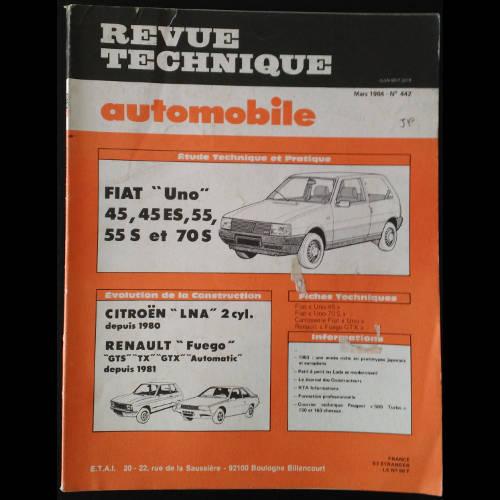 RTA Fiat Uno 45, 45 ES, 55, 55S et 70S