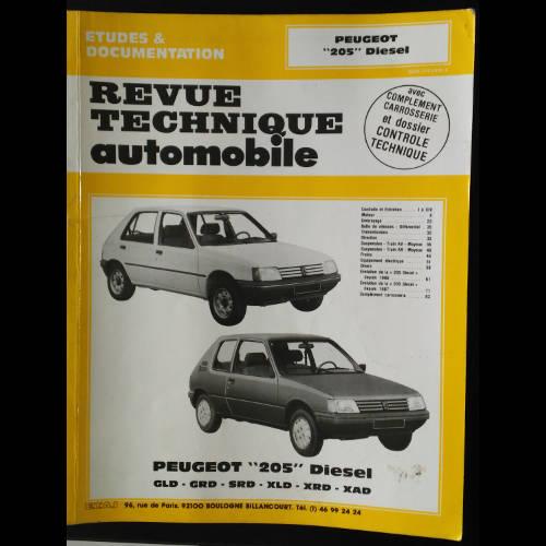 RTA Peugeot 205 Diesel, GLD, GRD, SRD, XLD, XRD, XAD