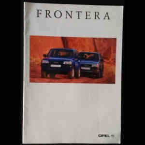 Brochure constructeur Opel Frontera 1995