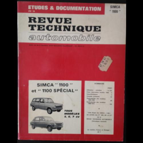 RTA Simca 1100 et 1100 special