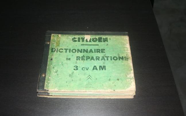 Dictionnaire de réparations 3cv AM