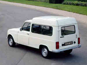 La Renault 4 F6 en version vitrée