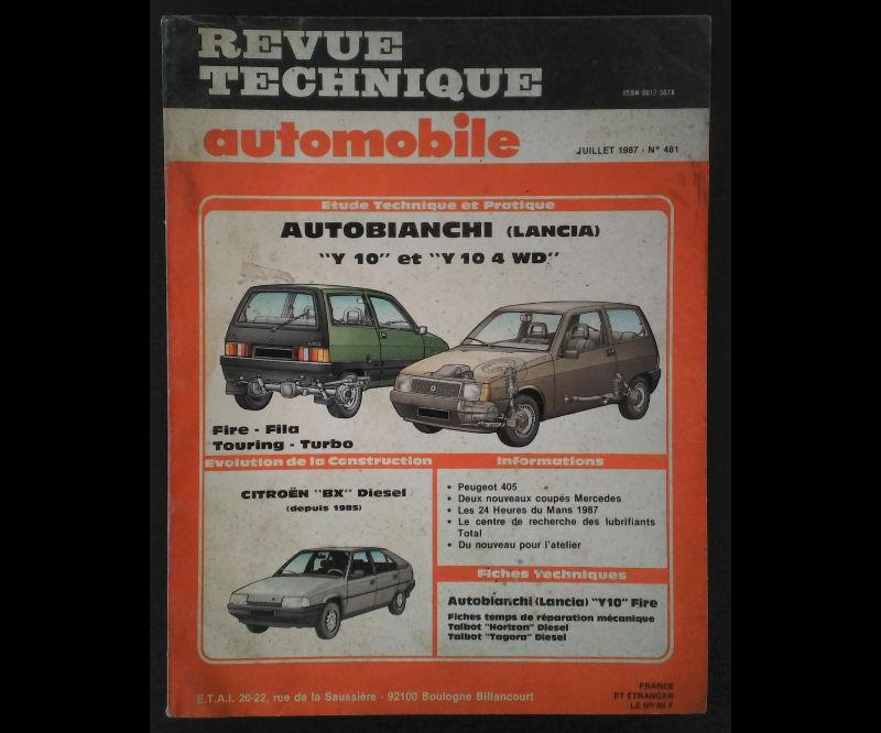 RTA AUTOBIANCHI – LANCIA Y10 ET Y10 4WD
